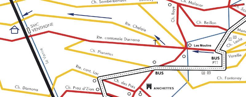NOUS TROUVER Par la route: Autoroute A9 sortie Sierre-Est